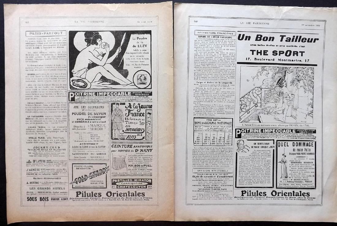 Art Deco Adverts 1920's Lot of 100. La Vie Parisienne - 4