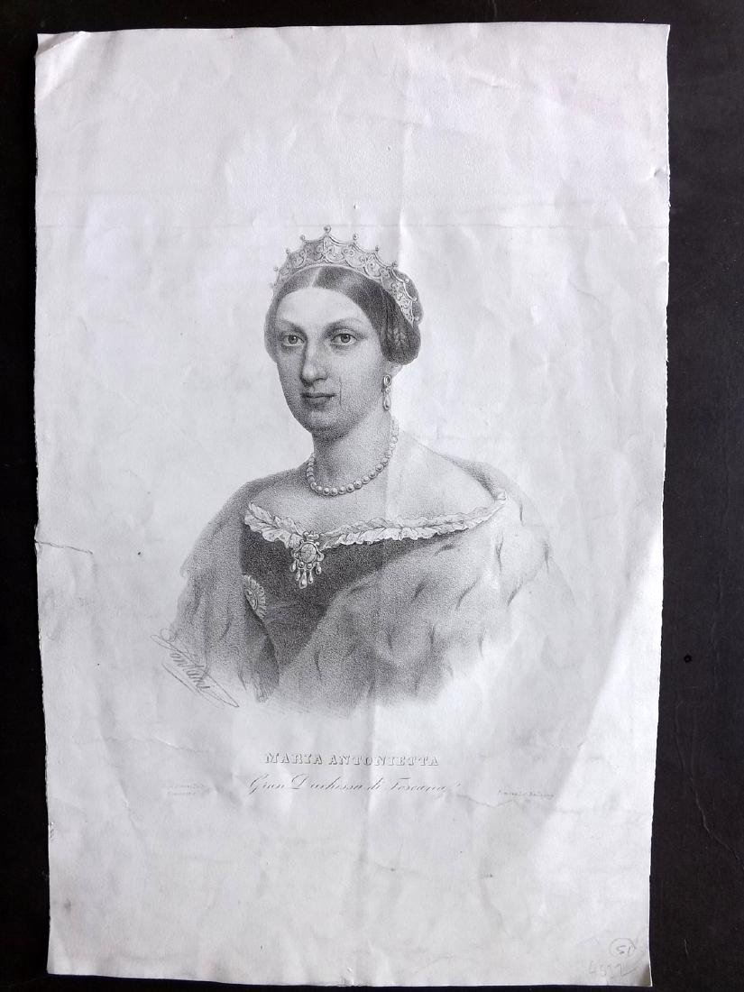 Ballagny 1855 Folio Portrait of Marie Antoinette