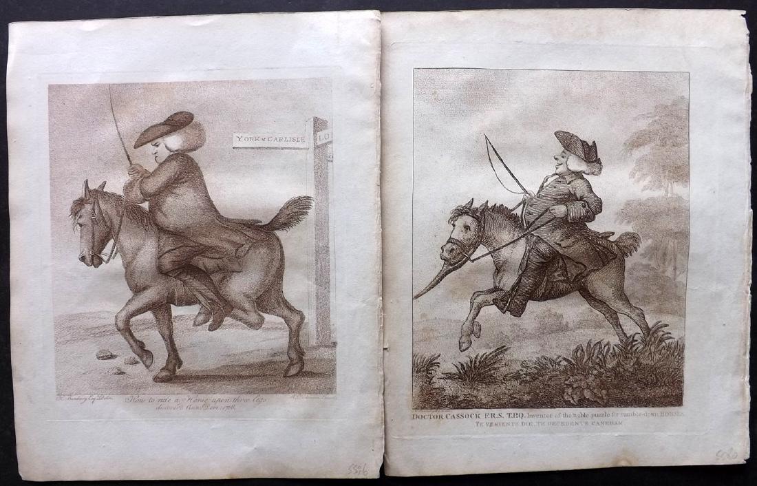Bunbury, Henry 1808 Pair of Horse Satire Prints