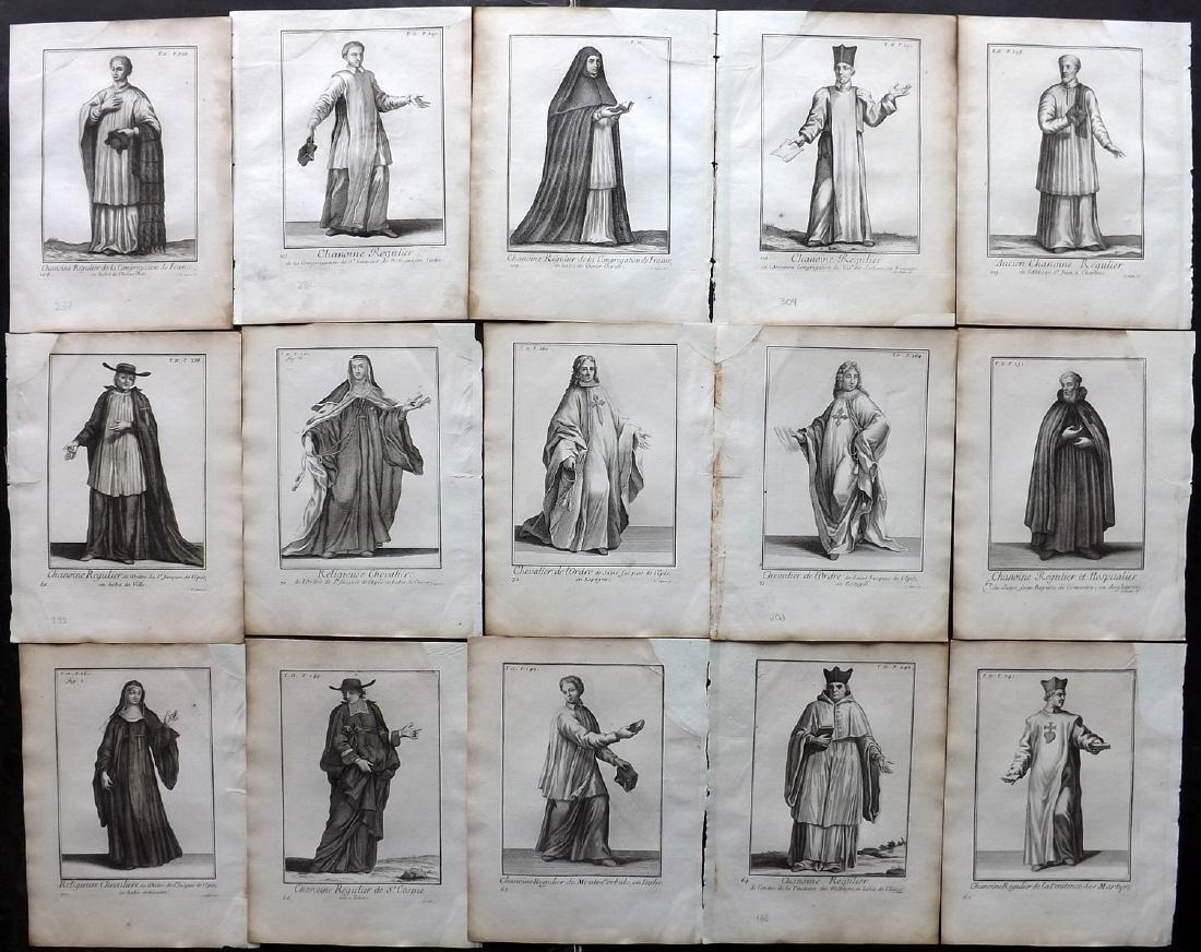 Heylot, Pierre 1721 Lot of 16 Costume Prints
