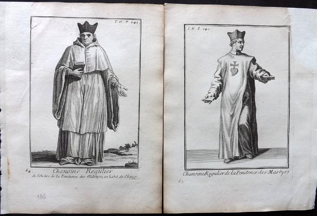 Heylot, Pierre 1721 Lot of 16 Costume Prints - 2