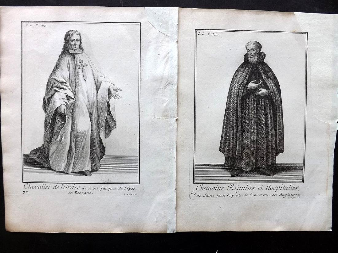 Heylot, Pierre 1721 Lot of 16 Costume Prints - 3
