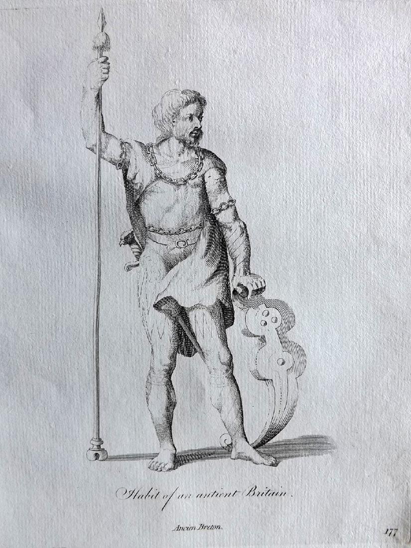 Jefferys, Thomas 1772 Lot of 4 British Costume Prints - 2