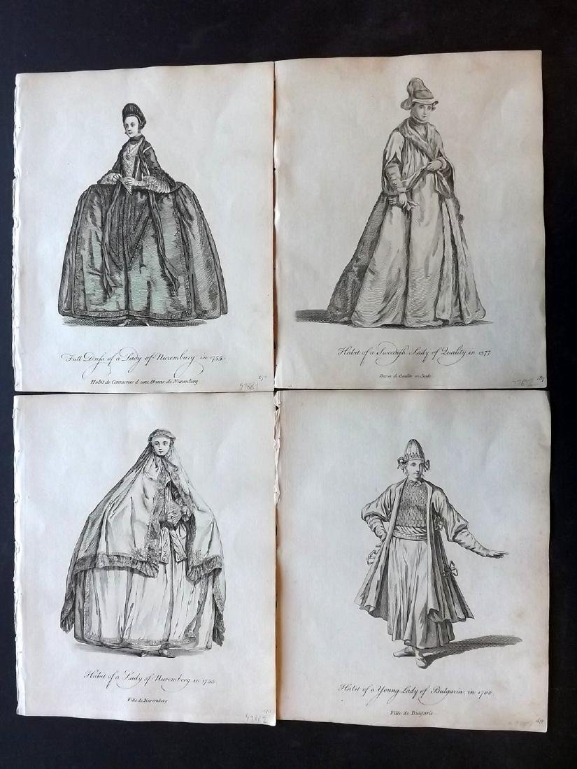 Jefferys, Thomas 1772 Lot of 6 European Costume Prints