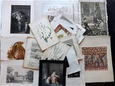 Mixed Prints 18th19th Century Lot of 100
