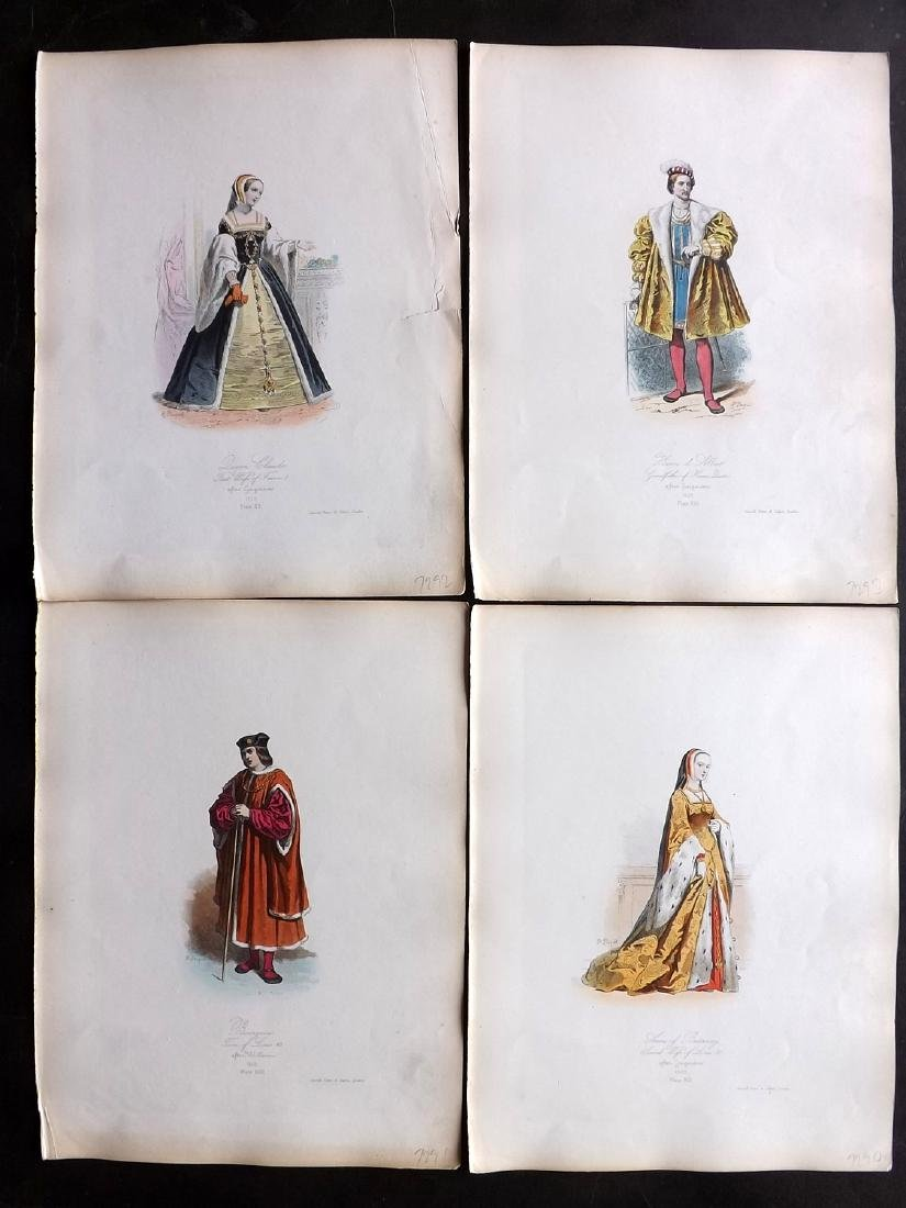 Pauquet, Hippolyte 1868 Lot of 4 Col French Costume