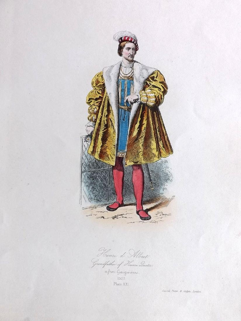 Pauquet, Hippolyte 1868 Lot of 4 Col French Costume - 2