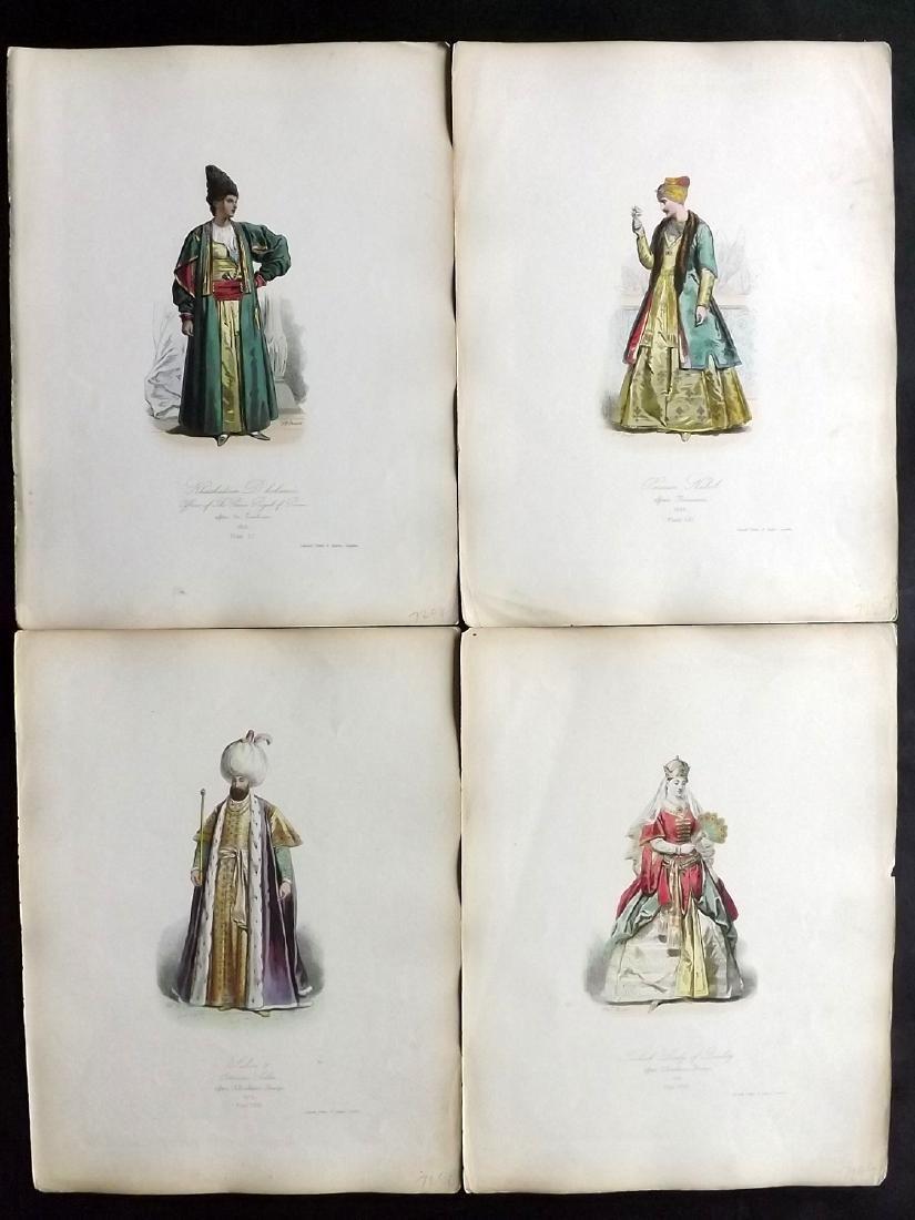 Pauquet, Hippolyte 1868 Lot of 4 Prints. Turkey, Persia