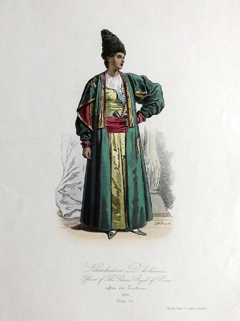 Pauquet, Hippolyte 1868 Lot of 4 Prints. Turkey, Persia - 2