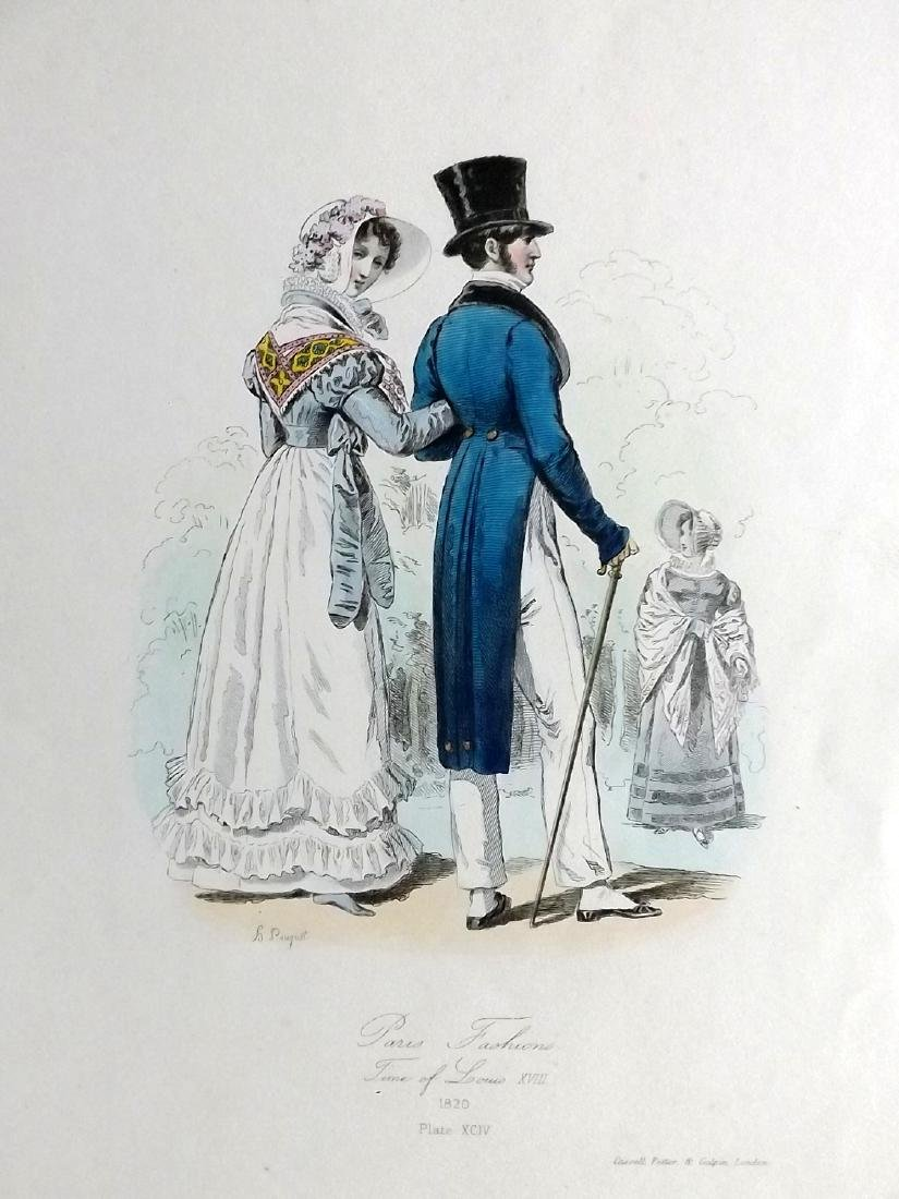 Pauquet, Hippolyte 1868 Lot of 5 Regency Fashion Plates - 2