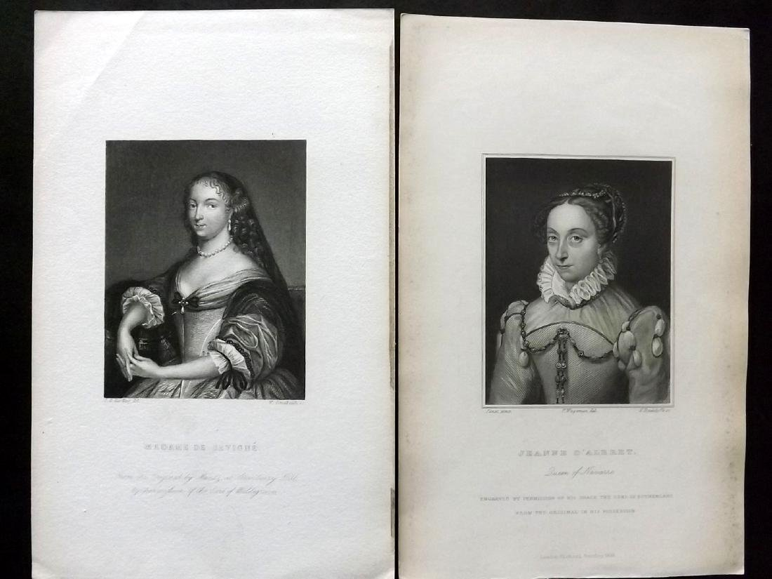 Portraits 18th-19th Century. Lot of 38. French - 2