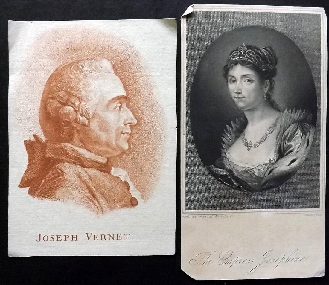 Portraits 18th-19th Century. Lot of 38. French - 4