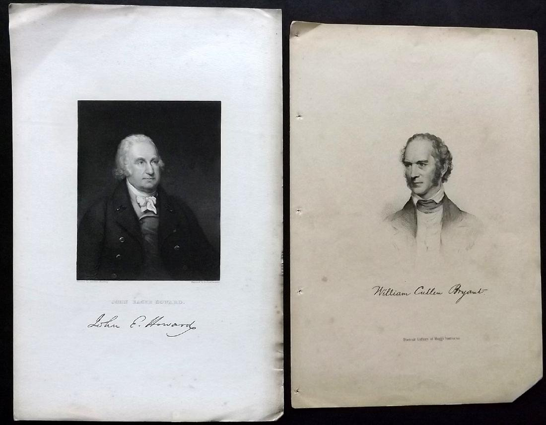 Portraits 19th Century. Lot of 18 Engravings. American - 2