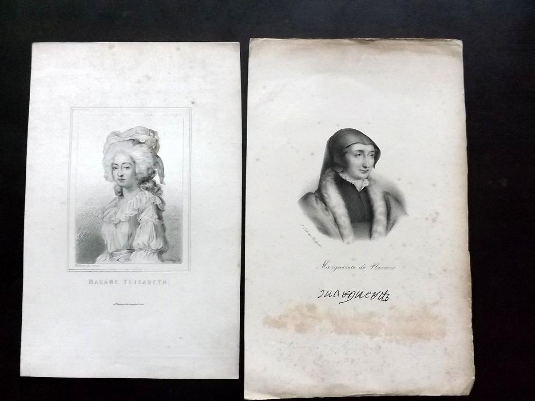 Portraits 19th Century. Lot of 20. French - 2