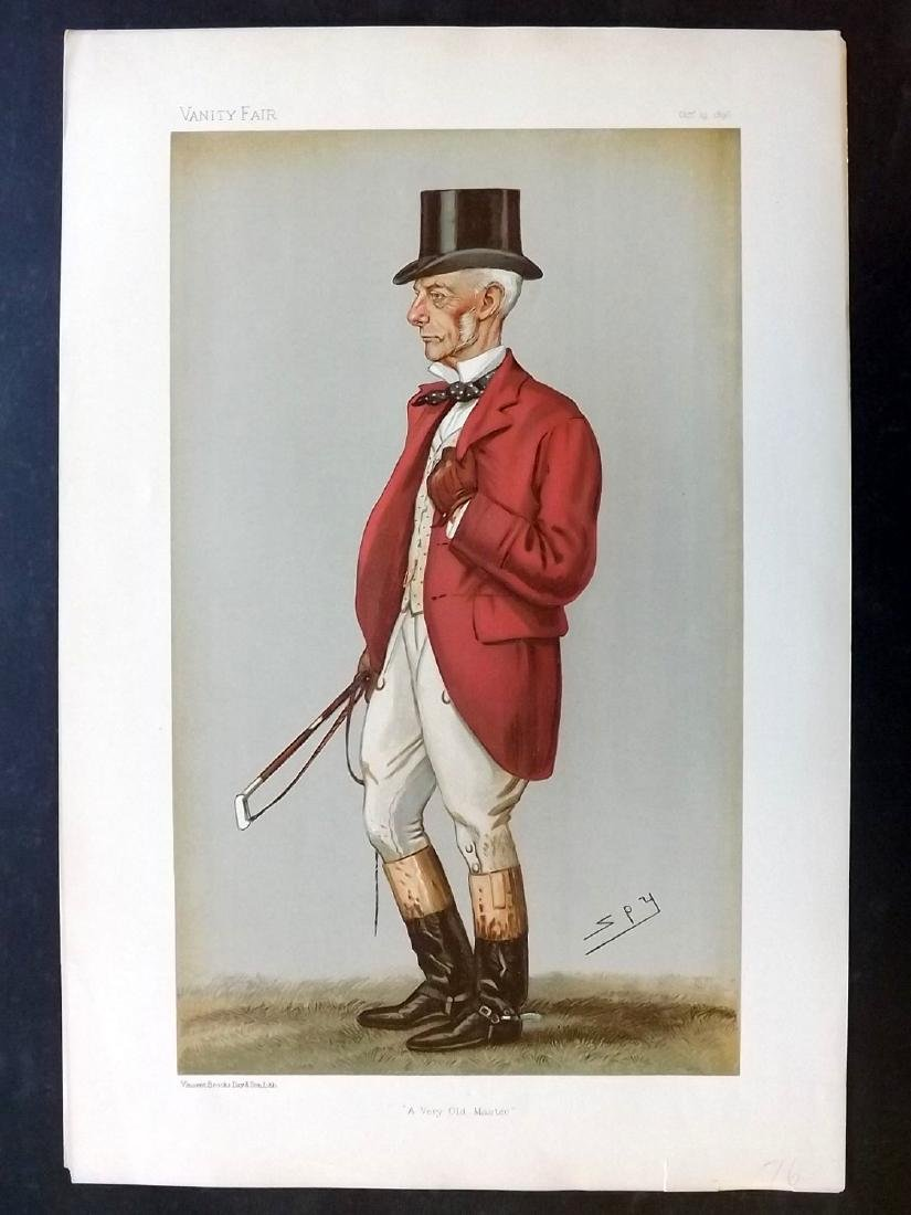 Vanity Fair Print 1896 Thomas Garth, Fox Hunter