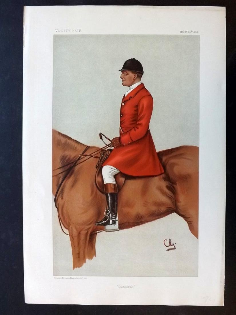 Vanity Fair Print 1899 John Hargreaves, Fox Hunter
