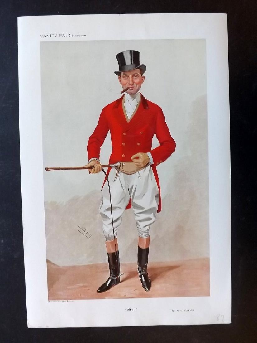 Vanity Fair Print 1909 Alfred Curnick, Fox Hunter