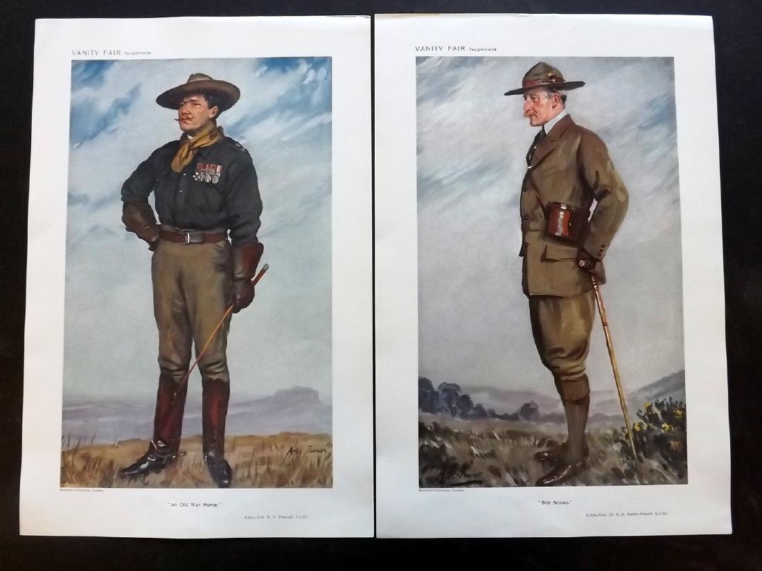 Vanity Fair Print 1911 Boy Scouts. Baden Powell etc (2)