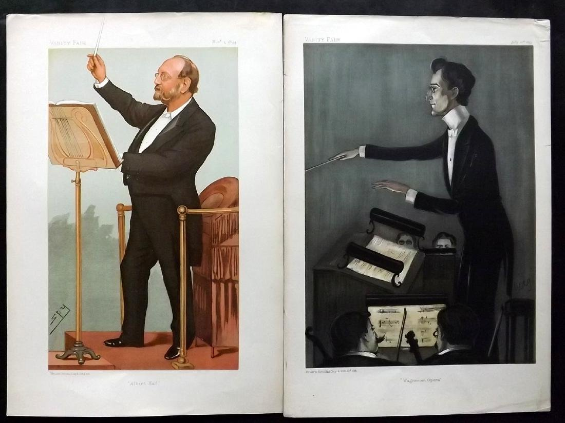 Vanity Fair Prints 1894-99 Pair of Music. Carl Muck etc