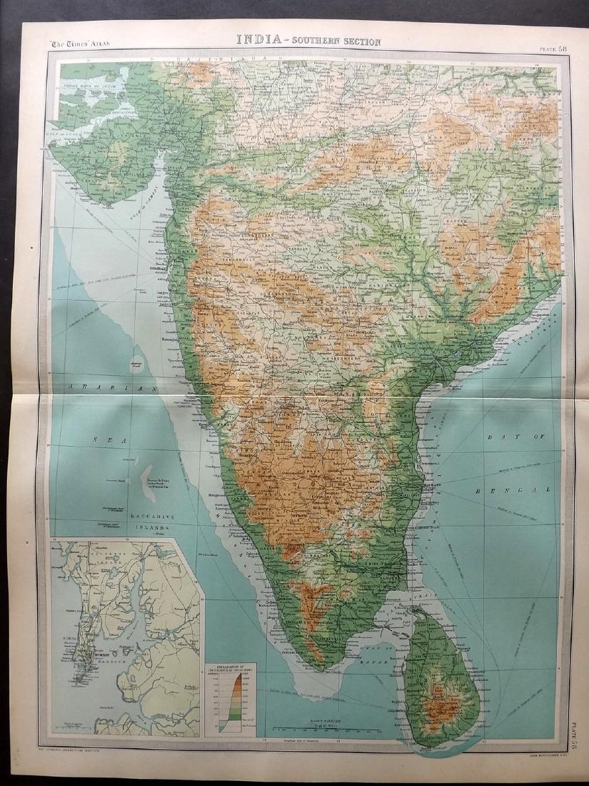 Bartholomew, John 1922 Lot of 4 Maps of India - 2