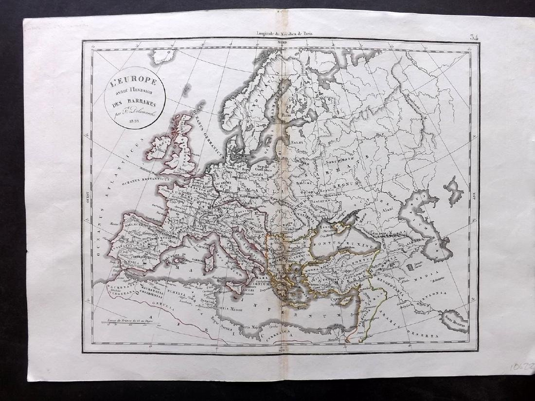 Delamarche, Felix 1829 Group of 3 Maps of Europe - 2
