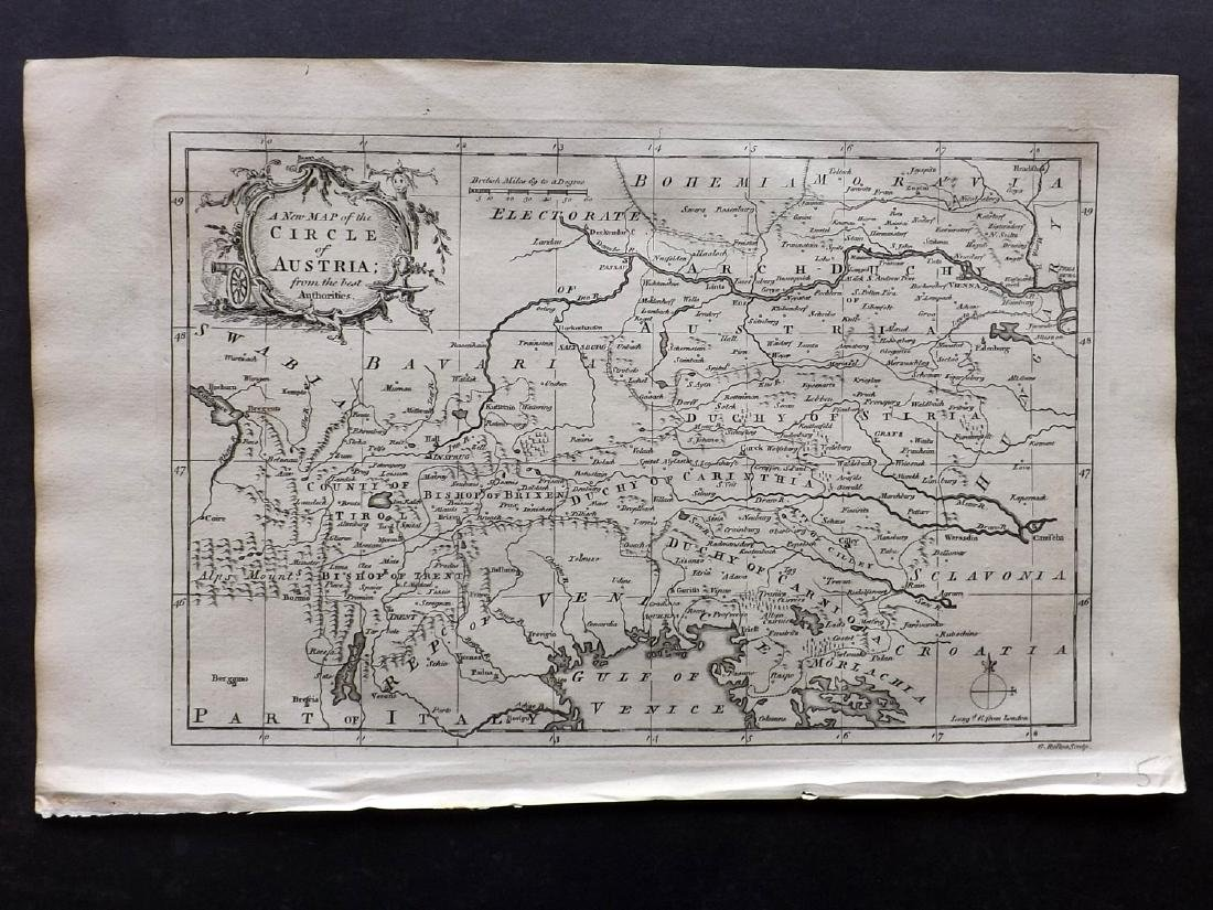 Fenning & Collyer 1765 Map of Austria