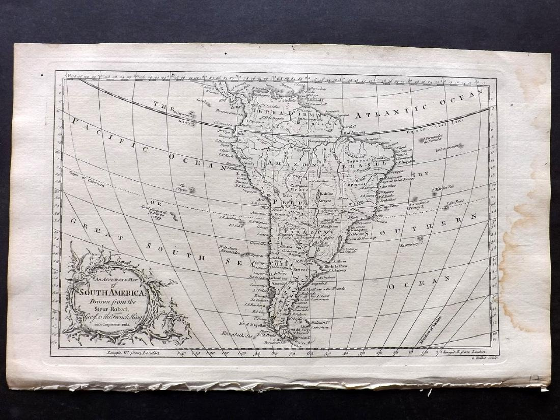 Fenning & Collyer 1765 Map of South America