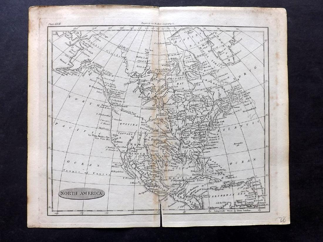 Walker, John 1795 Map of North America. USA Canada