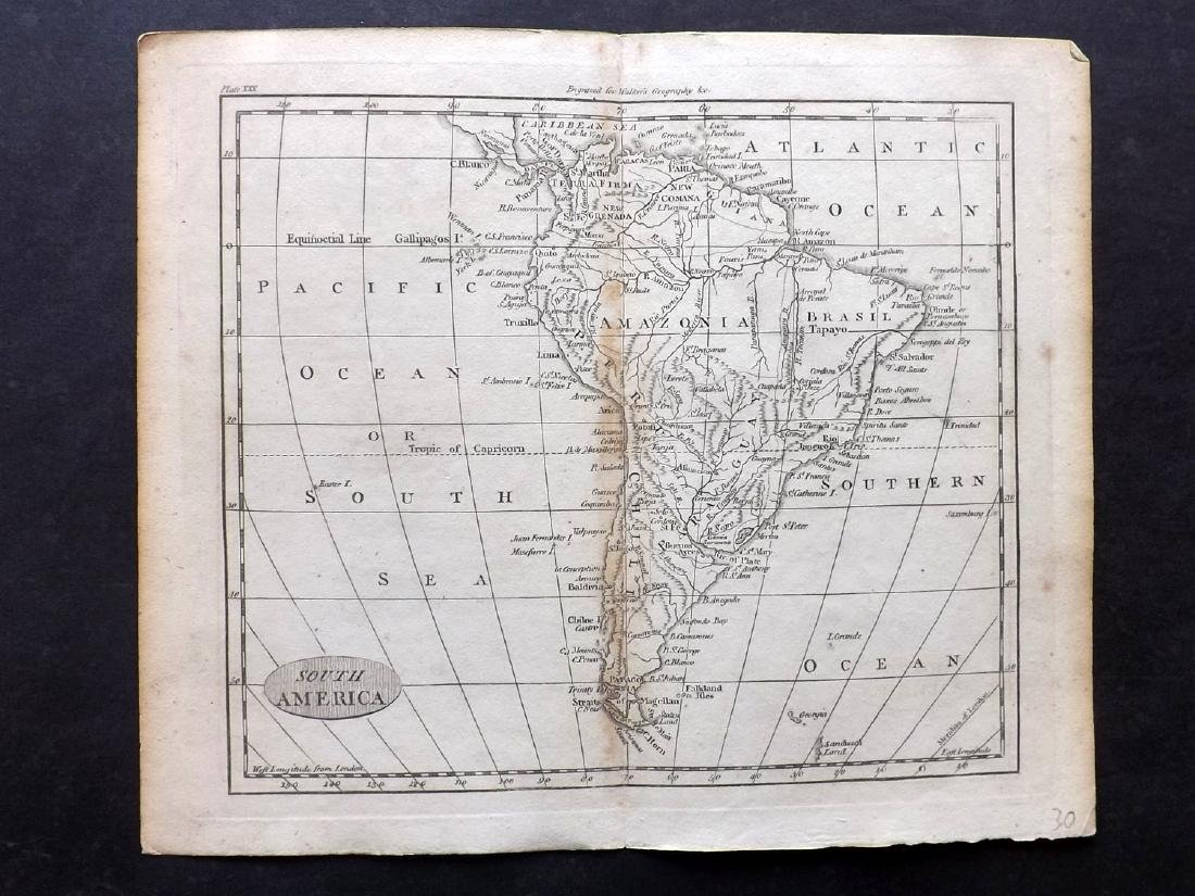 Walker, John 1795 Map of South America