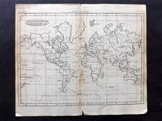 Walker John 1795 Map of the World on Mercators Proj