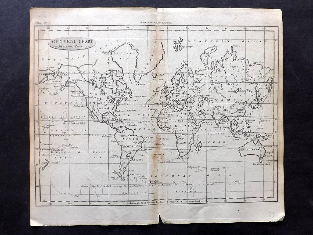 Walker, John 1795 Map of the World on Mercators Proj.