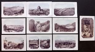 Thomson, William 1863 Lot of 10 Holy Land Prints