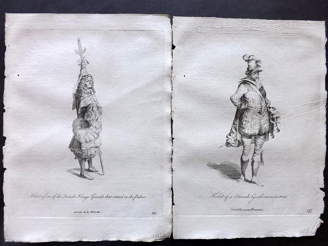 Jefferys, Thomas 1772 Lot of 6 French Costume Prints - 2