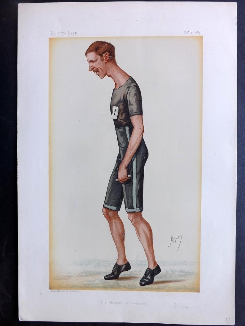 Vanity Fair Print 1884 Walter Goodall George, Track