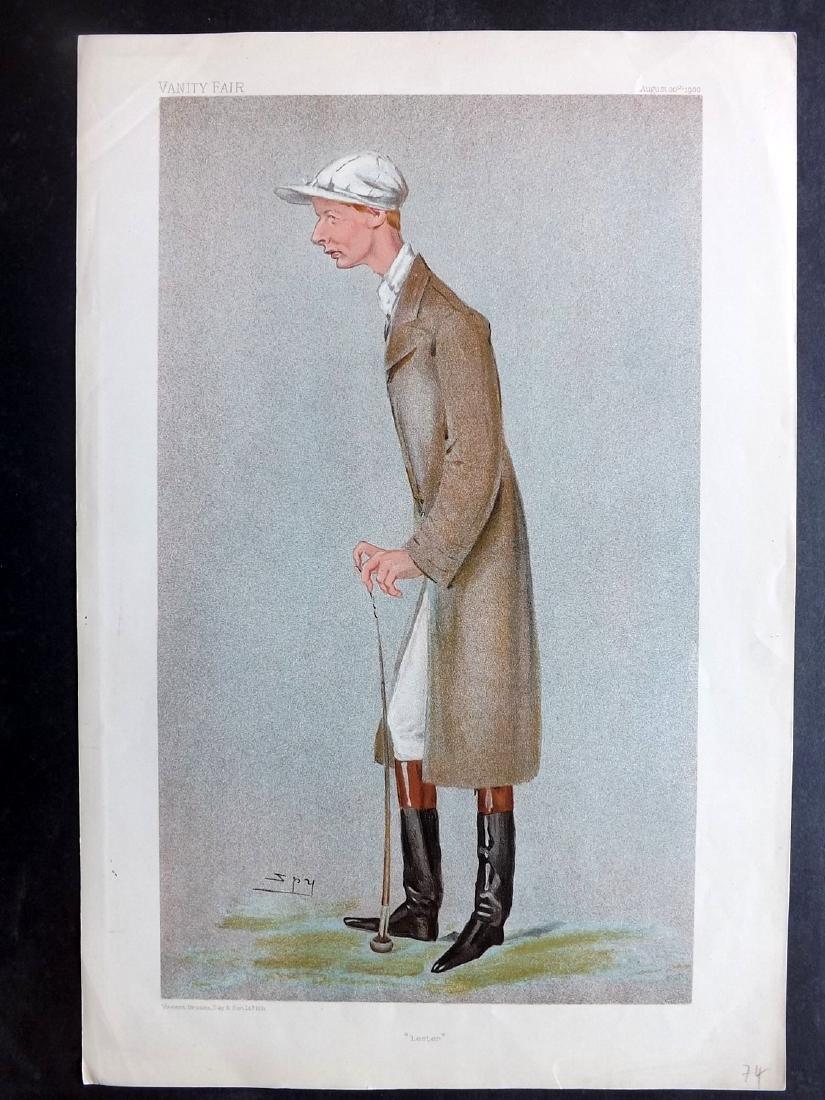 Vanity Fair Print 1900 Lester Reiff Horse Racing Jockey