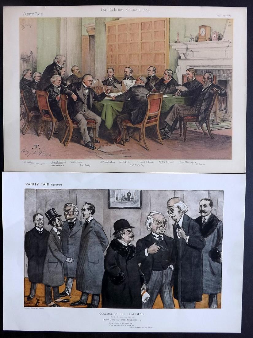 Vanity Fair Prints 1883-1913 Pair of Groups