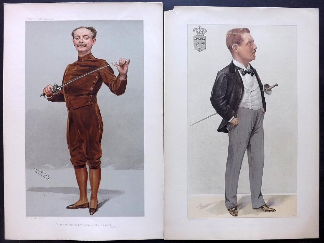 Vanity Fair Prints 1897-1905 Pair Sword Fencers Fencing
