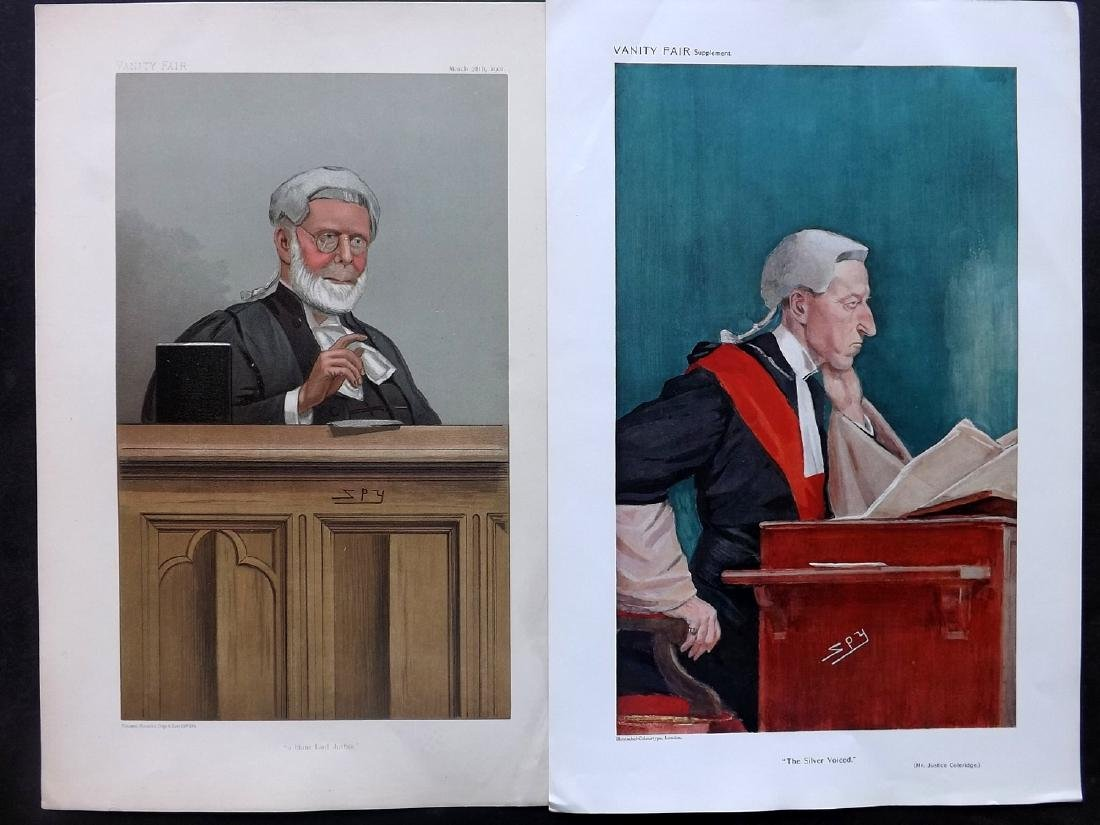 Vanity Fair Prints 1901-09 Pair of Judges. Spy Cartoons