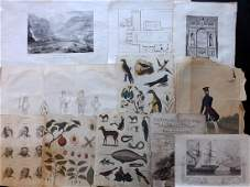 Mixed Prints 19th Century Lot of 45