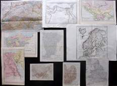 Maps 18241911 Mixed Lot of 10 Antique Maps
