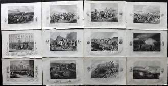 Crimean War 1858 Lot of 12 Military Prints by Tyrrell