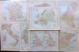 Bryce James 1881 Mixed Lot of European Maps