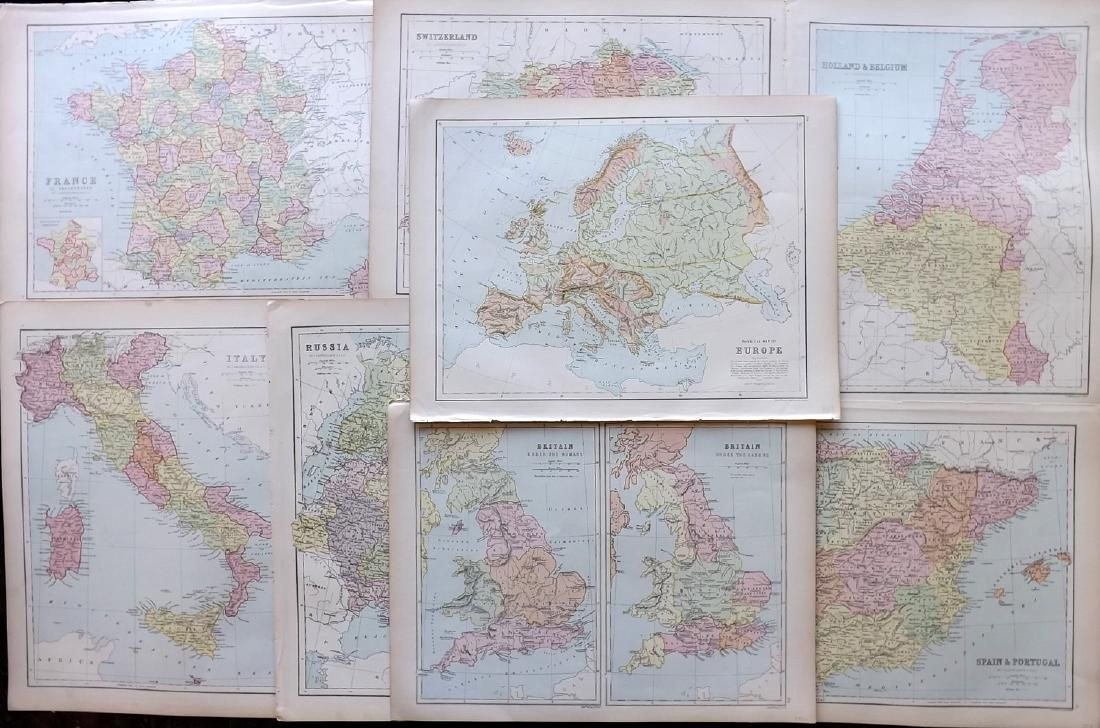 Bryce, James 1881 Mixed Lot of European Maps
