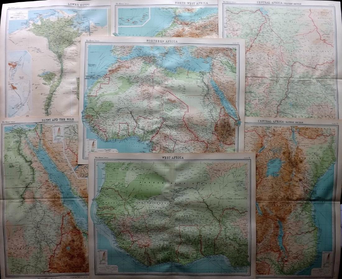 Bartholomew, John 1922 Lot of 7 Maps of Africa