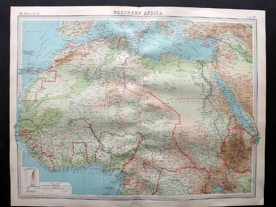 Bartholomew, John 1922 Lot of 7 Maps of Africa - 2