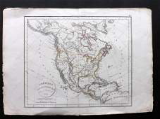 Delamarche Felix 1829 Map of North America USA