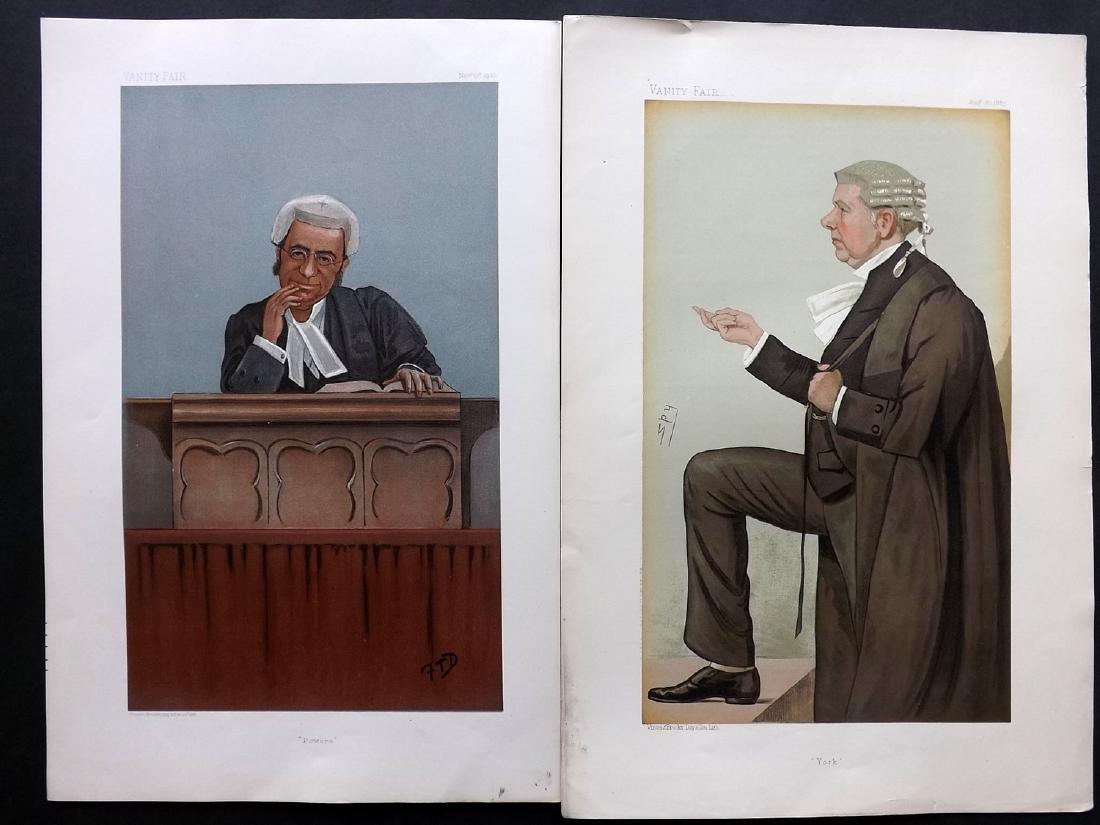 Vanity Fair Prints 1887-1900 Pair of Legal Wigged
