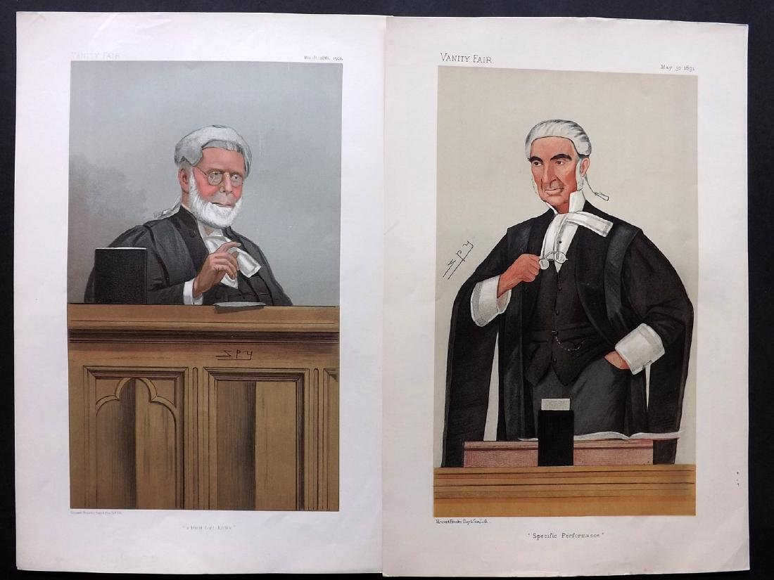 Vanity Fair Prints 1891-1901 Pair of Legal Wigged
