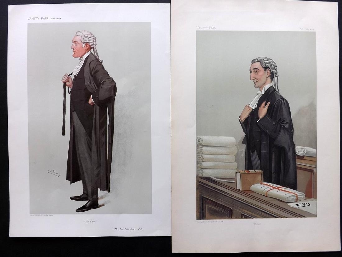 Vanity Fair Prints 1904-06 Pair of Legal Wigged