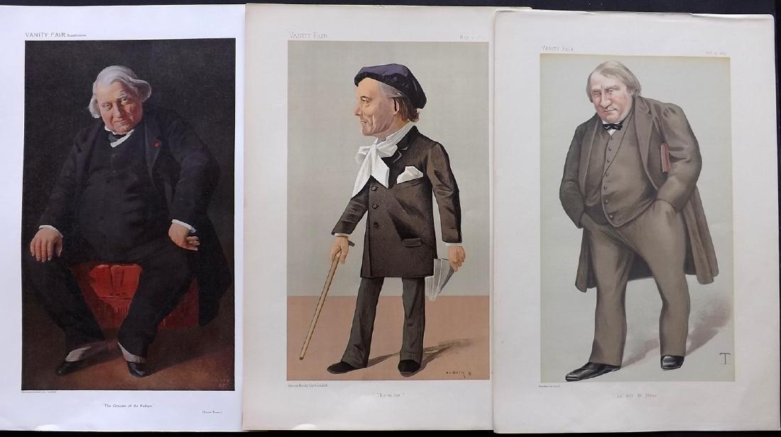 Vanity Fair Prints 1879-1910 Group of 3 Literary